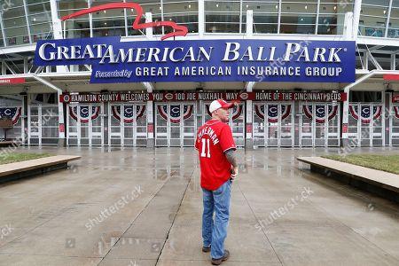 Editorial image of Nationals Reds Wait, Cincinnati, USA - 29 Mar 2018