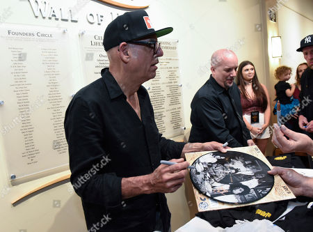 Liberty Devitto, of The Lords of 52nd Street at his meet and greet after performing at the Duncan Theatre on in Lake Worth, Fla