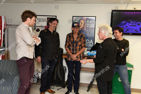 Malcolm Gold, Dennis Delgaudio, Liberty Devitto, Russell Javors, Doug Kistner. Malcolm Gold, from left, Dennis Delgaudio, Liberty Devitto, Russell Javors and Doug Kistner of The Lords of 52nd Street backstage before their performance at the Duncan Theatre on in Lake Worth, Fla