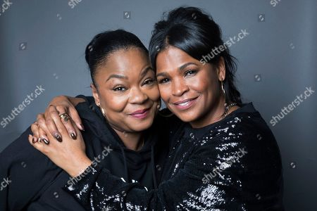 """Roxanne Shante, Nia Long. Roxanne Shante, left, and Nia Long pose for a portrait in New York to promote the film, """"Roxanne Roxanne."""" Long plays Roxanne Shante's mother in new Netflix docudrama about the rap pioneer"""