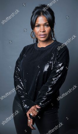 """Nia Long pose for a portrait in New York to promote the film, """"Roxanne Roxanne."""" Long plays Roxanne Shante's mother in new Netflix docudrama about the rap pioneer"""