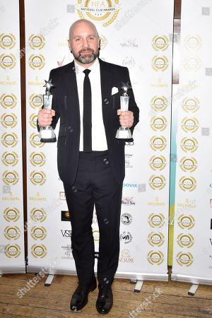 Editorial photo of National Film Awards, Press Room, London, UK - 28 Mar 2018