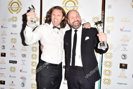 Stock Image of Best Action - 'Jawbone' Johnny Harris (r)
