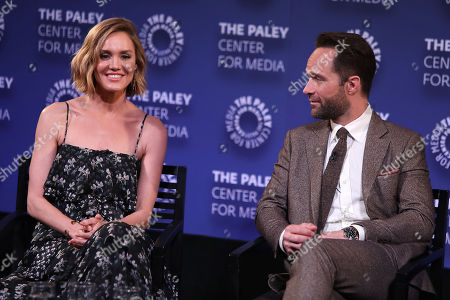 Erinn Hayes and Chris Diamantopoulos