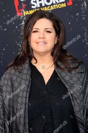 """Stock Image of SallyAnn Salsano arrives at the LA Premiere of """"Jersey Shore Family Vacation"""" on Thursday, March 29, in Los Angeles"""