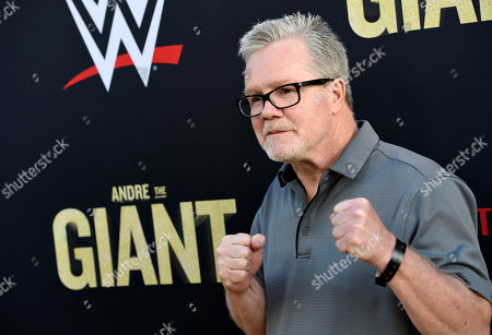 """Boxing trainer Freddie Roach poses at the premiere of the HBO documentary film """"Andre the Giant"""" at the ArcLight Hollywood, in Los Angeles. The film explores the life of World Wrestling Entertainment legend Andre Rene Roussimoff"""