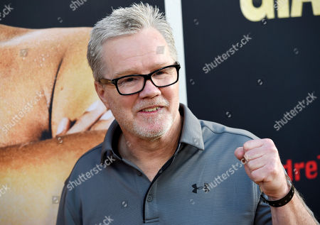 """Boxing trainer Freddie Roach poses at the premiere of the HBO documentary film """"Andre the Giant,"""" at the ArcLight Hollywood, in Los Angeles. The film explores the life of World Wrestling Entertainment legend Andre Rene Roussimoff"""