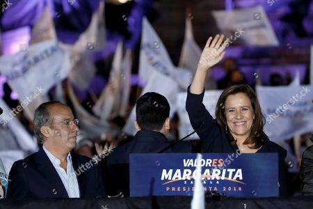 Margarita Zavala and Felipe Calderon