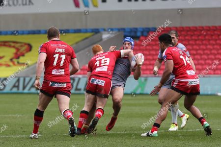 Josh Wood for Salford Reds during the Betfred Super League match between Salford Red Devils and Catalan Dragons at the AJ Bell Stadium, Eccles. Picture by George Franks