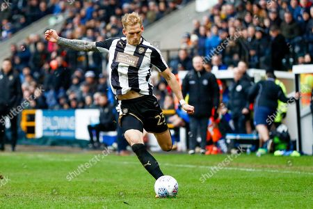 Notts County defender Daniel Jones (23) in action  during the EFL Sky Bet League 2 match between Notts County and Wycombe Wanderers at Meadow Lane, Nottingham. Picture by Simon Davies