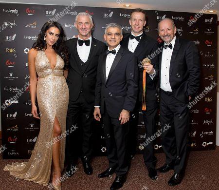 Stock Picture of Carol Anthony, Ian Rush, Sadiq Khan, Richard Whitehead and Peter Moore