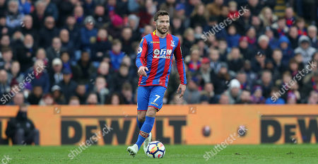 Yohan Cabaye of Crystal Palace on the ball during the Premier League match between Crystal Palace and Liverpool on 31st March 2018 at Selhurst Park Stadium, Croydon, London.