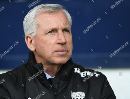 Alan Pardew manager of West Bromwich Albion
