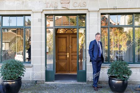 Jerome Valcke, former FIFA Secretary General, arrives at the Court of Arbitration for Sport (CAS) to challenge his ten-year suspension imposed by FIFA in Lausanne, Switzerland
