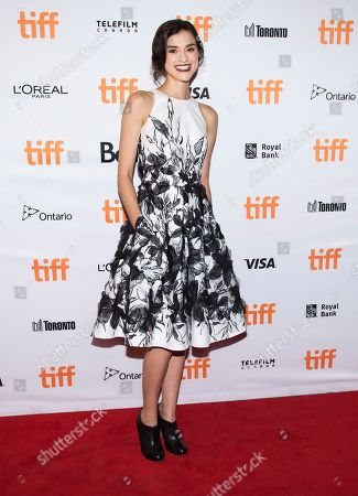 "Stock Photo of Actress Rebecca Liddiard arrives on the red carpet for the new movie ""Alias Grace"" during the 2017 Toronto International Film Festival in Toronto on"