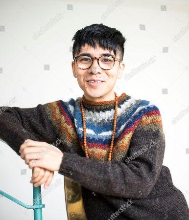 Editorial picture of Ocean Vuong photo shoot, UK - 16 Jan 2018