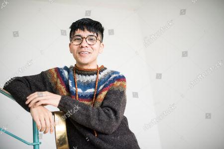 Editorial image of Ocean Vuong photo shoot, UK - 16 Jan 2018