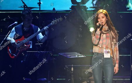 Seohyun of the South Korean girl group Girls' Generation rehearsing prior a performance