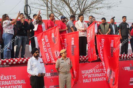 Editorial photo of 1st International half marathon for Clean India, Guwahati, India - 01 Apr 2018