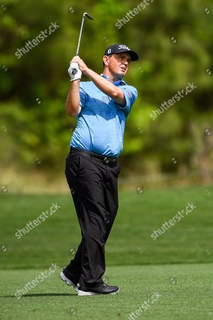Greg Chalmers in action during the Houston Open at the Golf Club of Houston in Humble, Texas