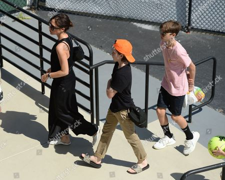 Victoria Beckham, Cruz Beckham and Romeo Beckham