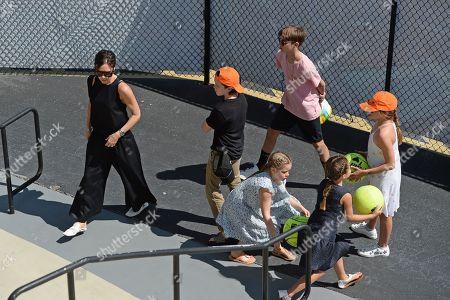 Victoria Beckham, Cruz Beckham, Romeo Beckham and Harper Beckham