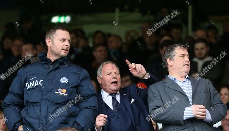 Director of Football  Barry Fry  chairman Darragh MacAnthony of Peterborough United