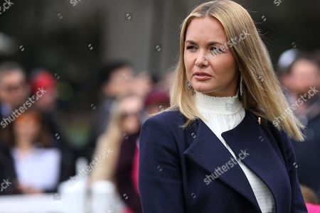 Vanessa Haydon Trump, wife of Donald Trump Jnr., attends the 140th annual Easter Egg Roll on the South Lawn of the White House.