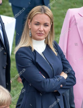 Vanessa Haydon Trump, wife of Donald Trump Jnr., looks on as United States President Donald J. Trump and first lady Melania Trump host the annual White House Easter Egg Roll on the South Lawn of the White House