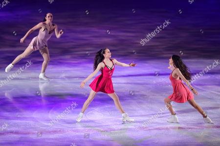 Kaetlyn Osmond, Alina Zagitova, Evgenia Medvedeva