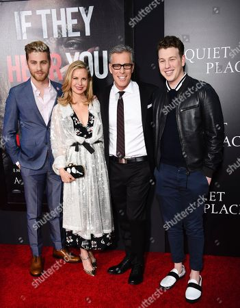 """Producer Brad Fuller and family attend the premiere of """"A Quiet Place"""" at AMC Loews Lincoln Square, in New York"""
