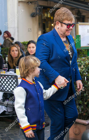 Sir Elton John and son Zachary Furnish-John