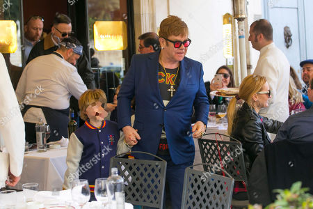 Sir Elton John and Zachary Furnish-John