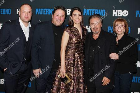 Larry Mitchell, Greg Grunberg, Annie Parisse, Al Pacino and Kathy Baker