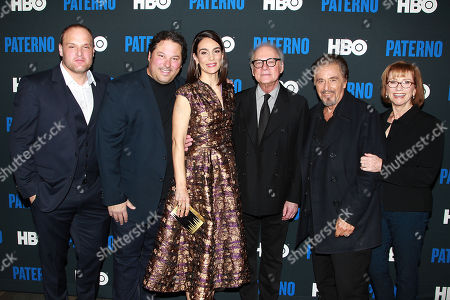 Larry Mitchell, Greg Grunberg, Annie Parisse, Barry Levinson, Al Pacino and Kathy Baker