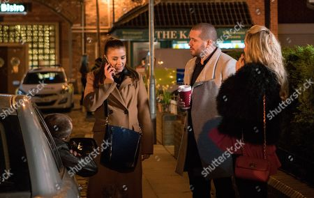 Ep 9420 Monday 2nd April 2018 - 2nd Ep Rosie Webster, as played by Helen Flannaghan, and Aidan Connor, as played by Shayne Ward, wait excitedly for Sophie Webster, as played by Brooke Vincent, to finish her interview but she reveals she didn't get the job.