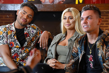 Nathan Henry, Chloe Ferry and Sam Gowland during an interview