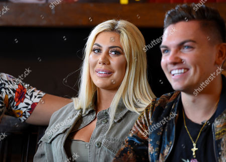 Chloe Ferry and Sam Gowland during an interview