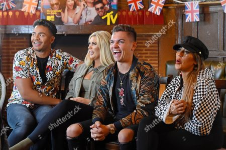 Nathan Henry, Chloe Ferry, Sam Gowland and Sophie Kasaei during an interview