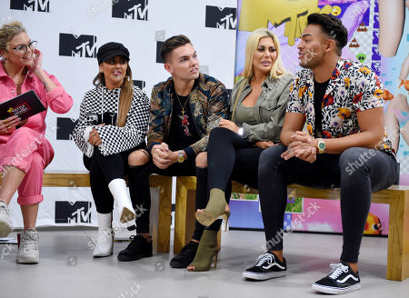 Sophie Kasaei, Sam Gowland, Chloe Ferry and Nathan Henry at MTV Headquarters