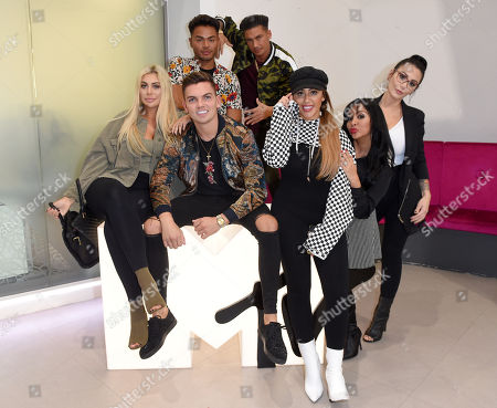 Chloe Ferry, Sam Gowland, Nathan Henry, Paul DelVecchio, Sophie Kasaei, Nicole Snooki Polizzi and Jenni J-Woww Farley at MTV Headquarters