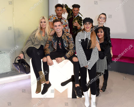 Stock Photo of Chloe Ferry, Sam Gowland, Nathan Henry, Paul DelVecchio, Sophie Kasaei, Nicole Snooki Polizzi and Jenni J-Woww Farley at MTV Headquarters