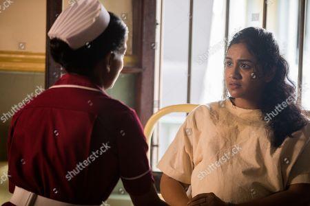 Nimmi Harasgama as Nurse Mari Rodriguez and Aayushi Lahiri as Pramila