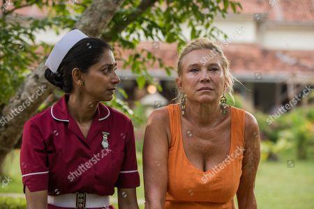 Nimmi Harasgama as Nurse Mari Rodriguez and Amanda Redman as Dr Lydia Fonseca