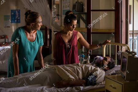 Amanda Redman as Dr Lydia Fonseca, Amrita Acharia as Dr Ruby Walker and Ankur Vikal as Mohana Sharma
