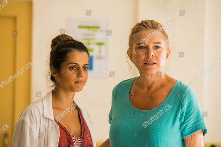 Amrita Acharia as Dr Ruby Walker and Amanda Redman as Dr Lydia Fonseca