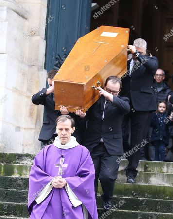 Stock Photo of Coffin of Stephane Audran