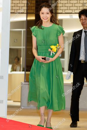 Japanese actress Aoi Miyazaki attends the opening ceremony for Tokyo Midtown Hibiya shopping mall