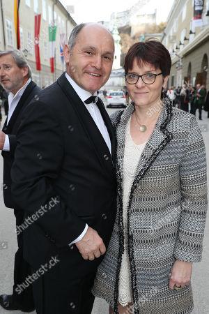 Nationalreatspräsident Wolfgang Sobotka mit Ehefrau Marlies