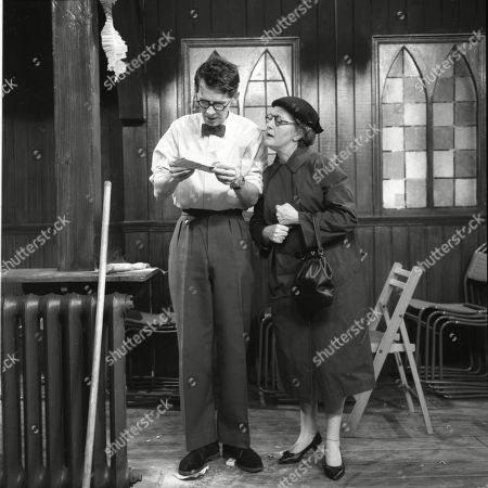 Stephen Hancock (asd Mr Spinks) and Lynne Carol (as Martha Longhurst)